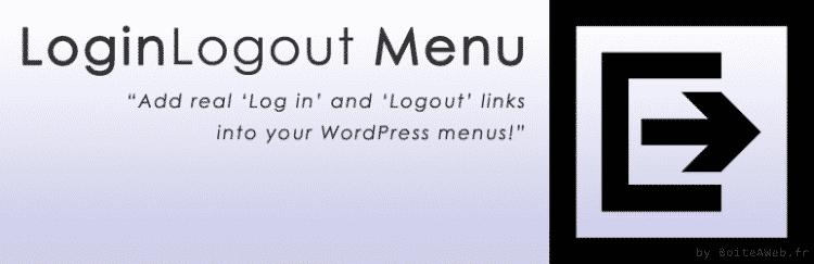 Log in Logout Menu : De vraies entrées de login/logout