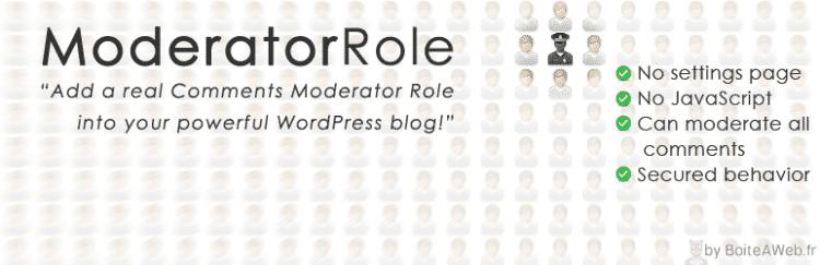 Moderator Role : Le seul plugin qui ajoute le rôle Modérateur