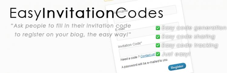 Easy Invitation Codes : Ne laissez pas entrer tout le monde