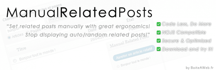 Manual Related Posts : Reliez vos articles entre eux