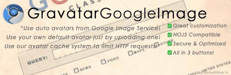 «Gravatar Google Image» ou Avoir un avatar sans compte gravatar