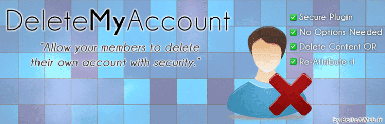 Delete My Account : Autoriser la suppression des comptes