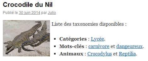 """""""the_taxonomies"""" avec des paramètres"""