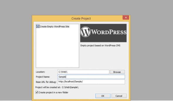 Créer un projet WordPress