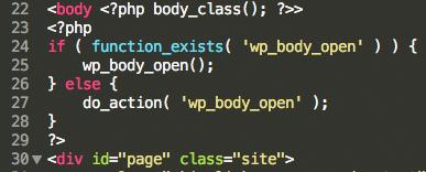 WP 5 2 et son nouveau hook pour les thèmes : wp_body_open